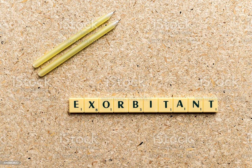 exorbitant stock photo