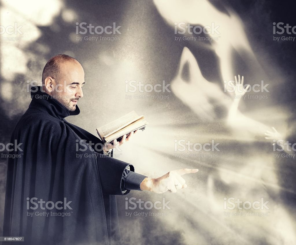 Exorcist stock photo