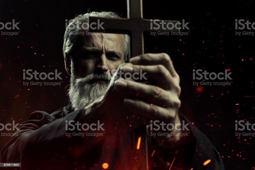 Exorcist stock photo