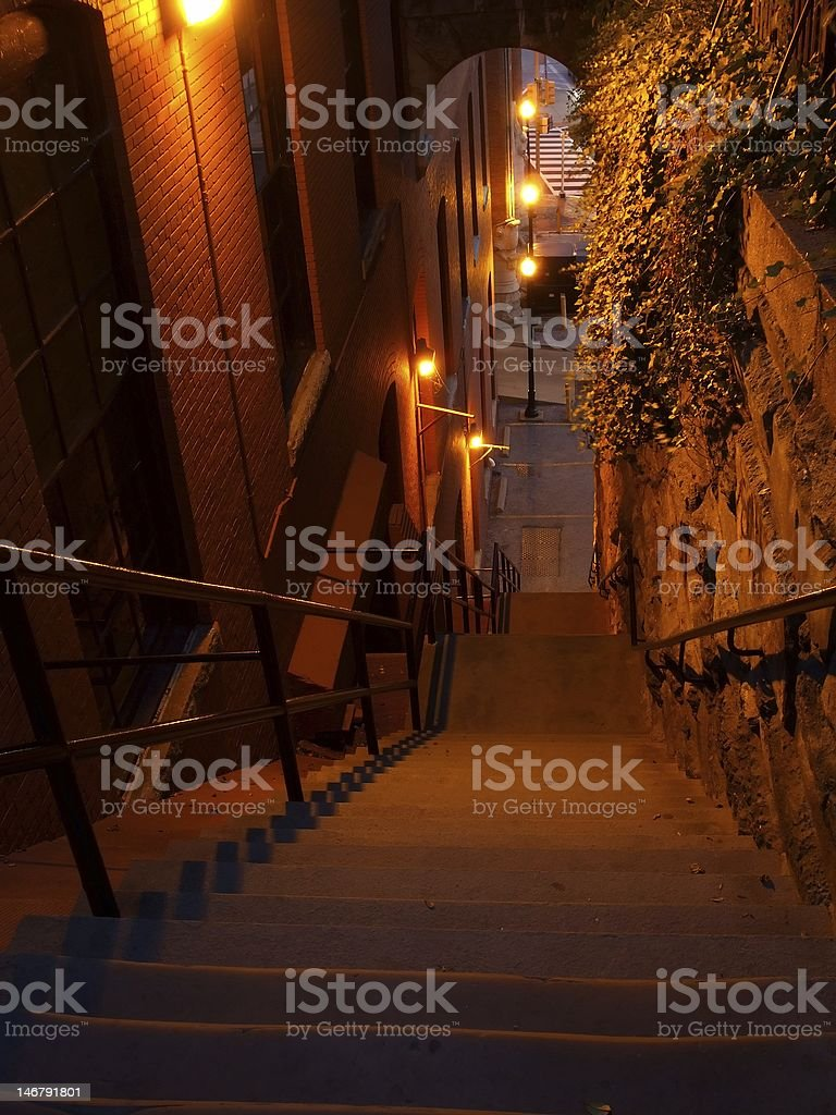 Exorcist Stairs-Georgetown stock photo