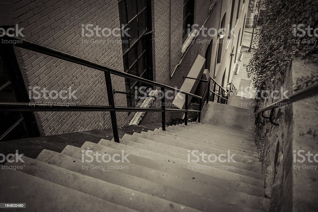 Exorcist Steps In Georgetown stock photo