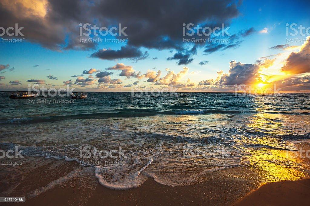 Exotic Beach in Dominican Republic stock photo