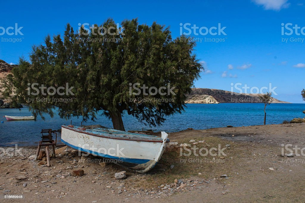 Exotic beaches - Itanos, Crete, Greece stock photo