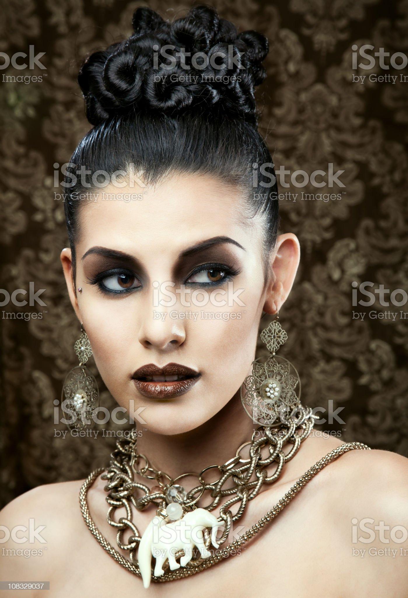 Exotic Beauty royalty-free stock photo