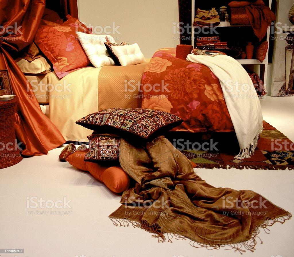 exotic bedroom royalty-free stock photo