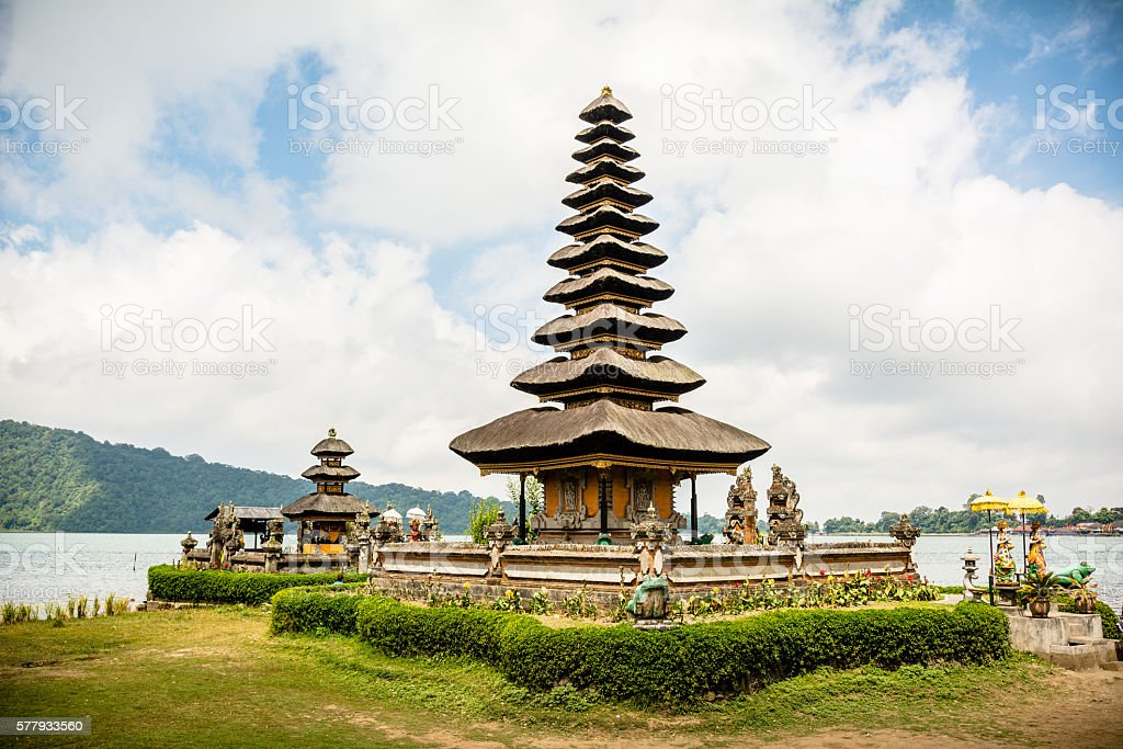 exotic beratan temple, bali stock photo