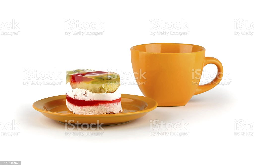 Exotic cake with citrus royalty-free stock photo