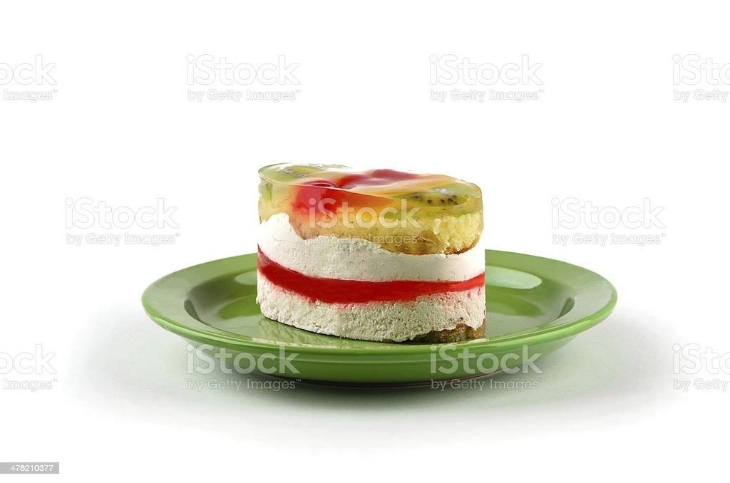 Exotic cake with kiwi royalty-free stock photo