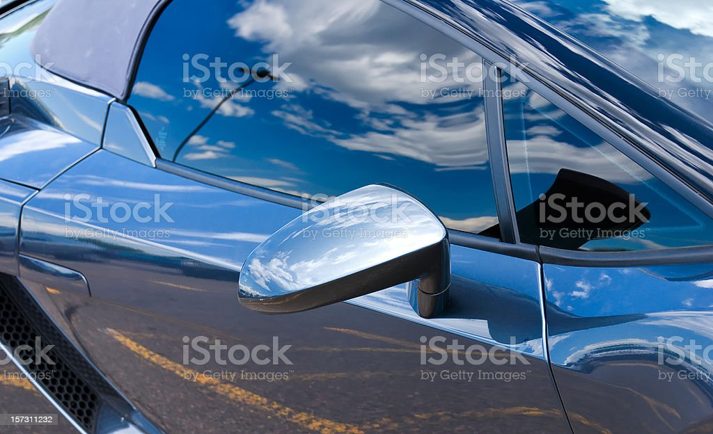 Exotic Car Reflections 1 stock photo
