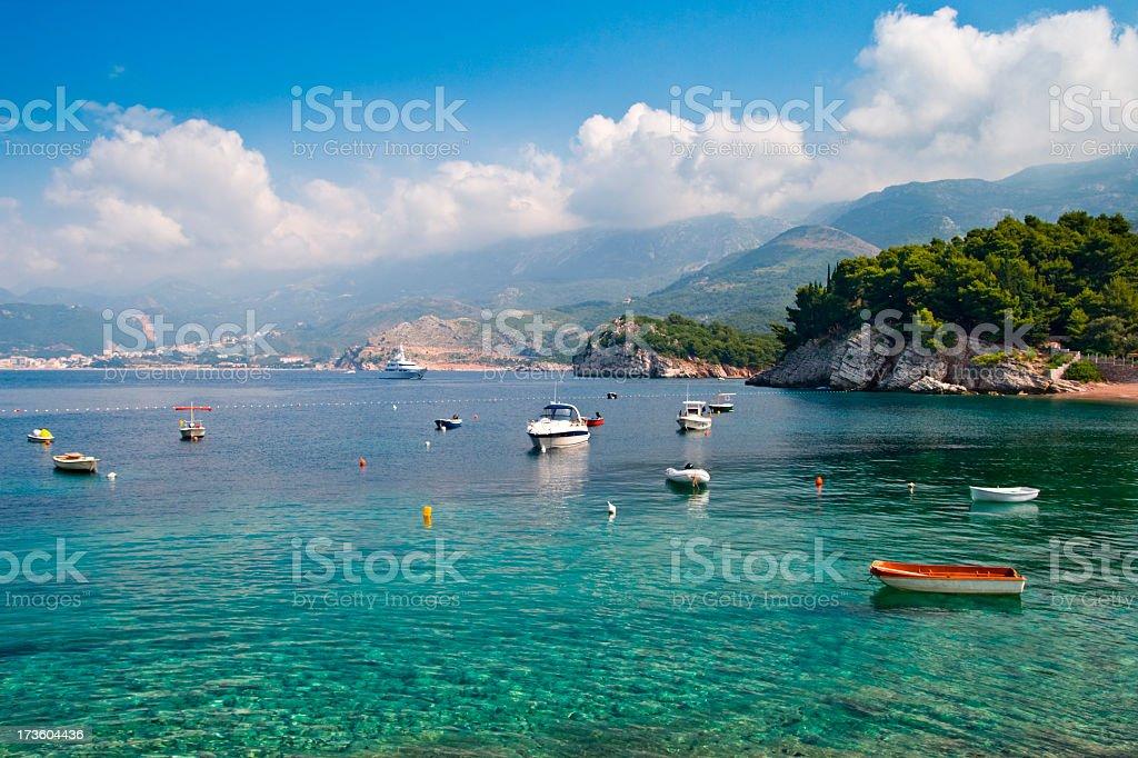 Exotic coast stock photo