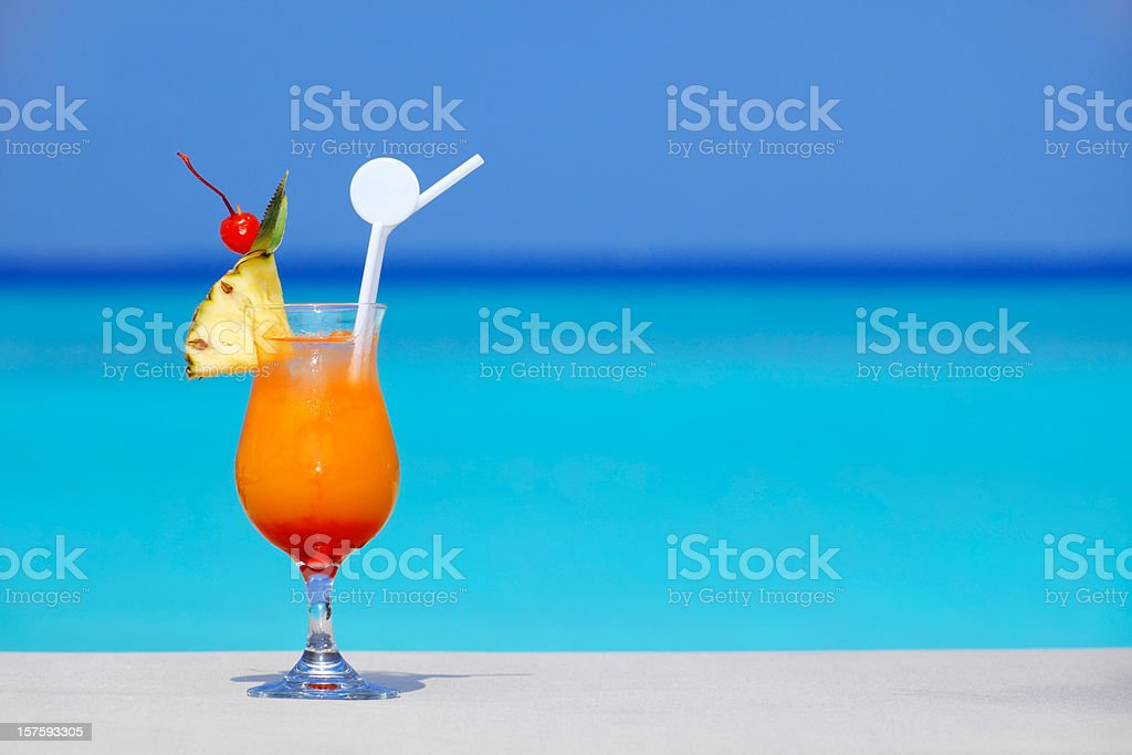Exotic cocktail. stock photo