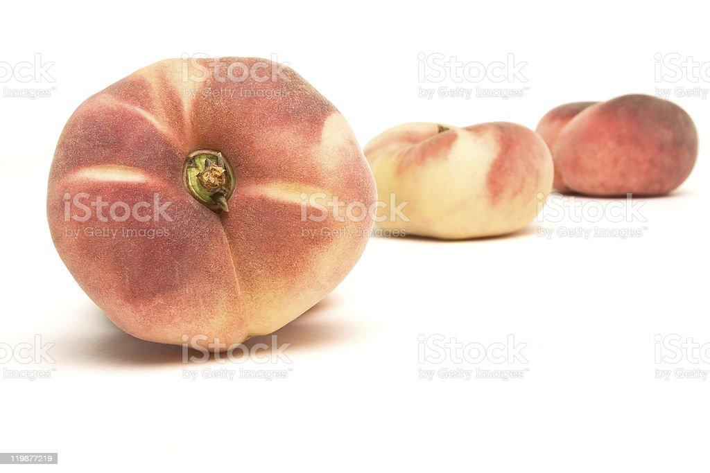 Exotic Flat peach stock photo