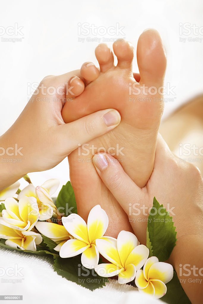 Exotic Foot Massage stock photo