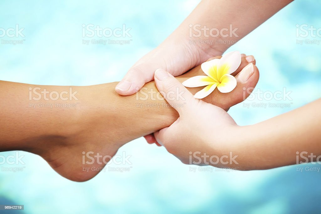 Exotic Foot Massage royalty-free stock photo