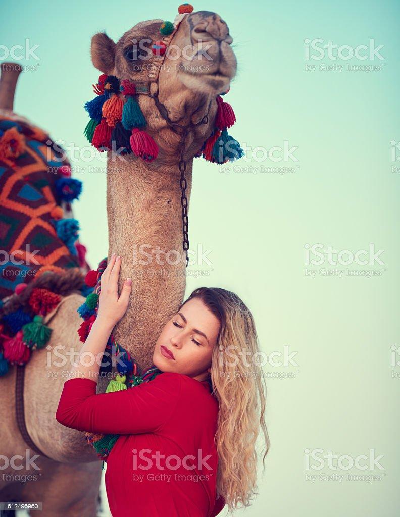 exotic friendship stock photo