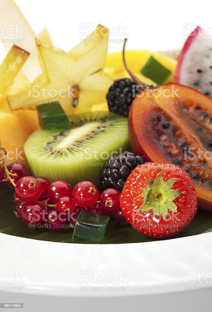Exotic Fruit Dish royalty-free stock photo