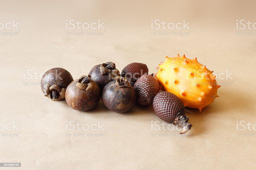 Exotic fruit stock photo