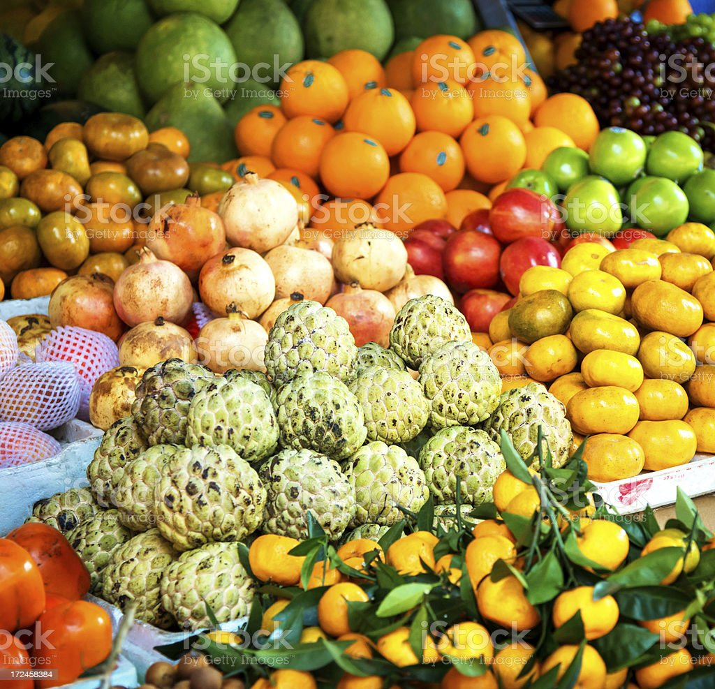 exotic fruits for sale royalty-free stock photo