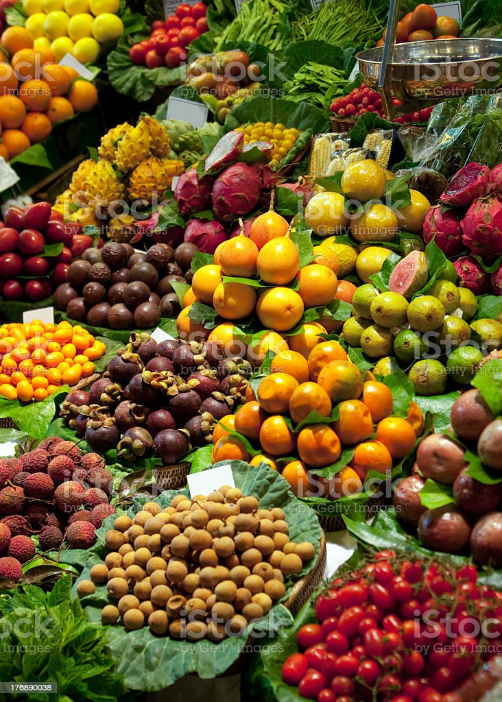 Exotic fruits  & vegetables royalty-free stock photo