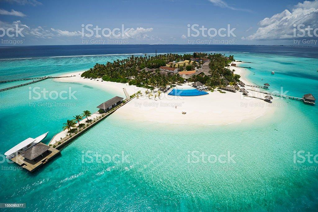 Exotic Island of Maldives stock photo