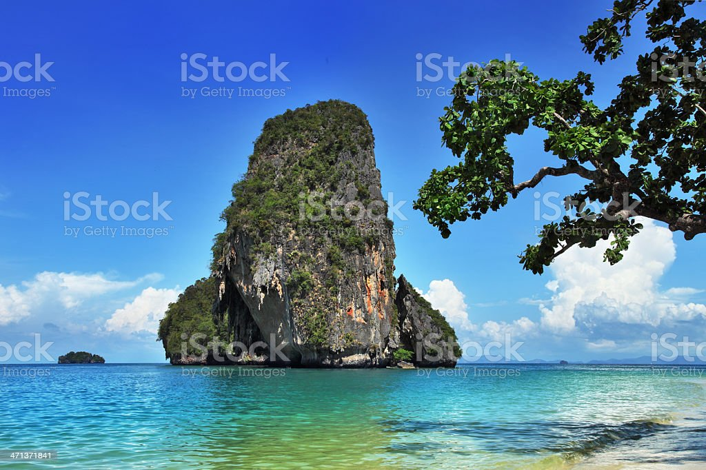 Exotic landscape in Thailand stock photo