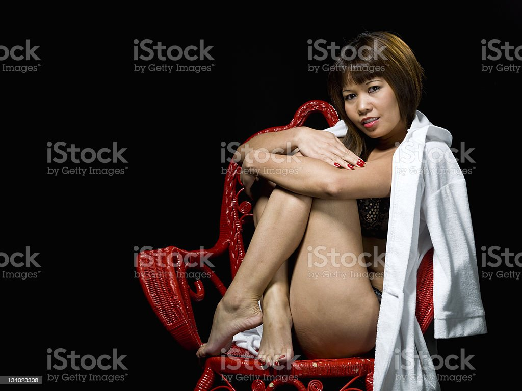 Exotic Lingerie Fashion Model royalty-free stock photo