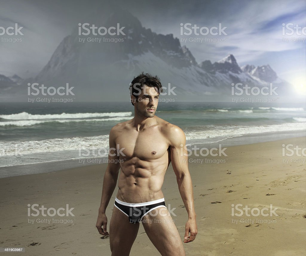Exotic man stock photo