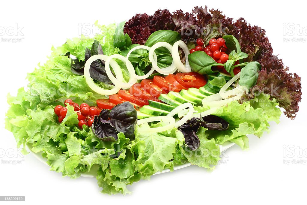Exotic salad on the plate royalty-free stock photo