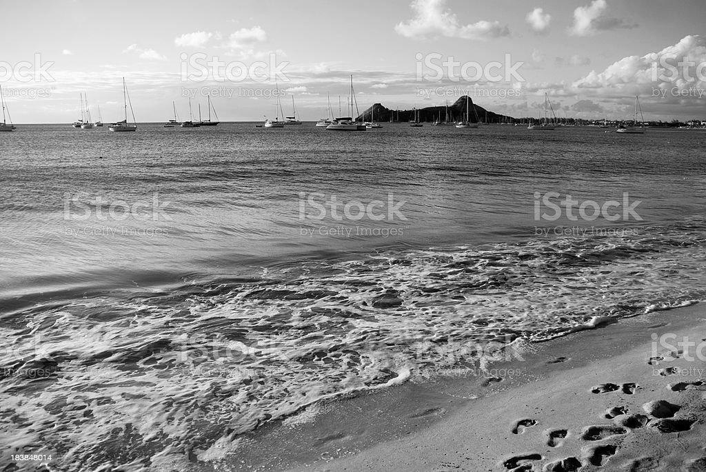 exotic seaside landscape stock photo