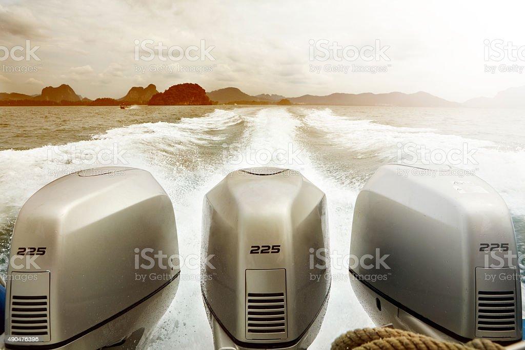 Exotic Speedboat stock photo