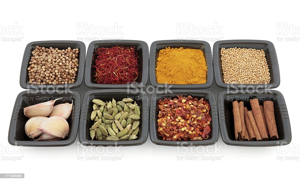 Exotic Spices and Herbs royalty-free stock photo