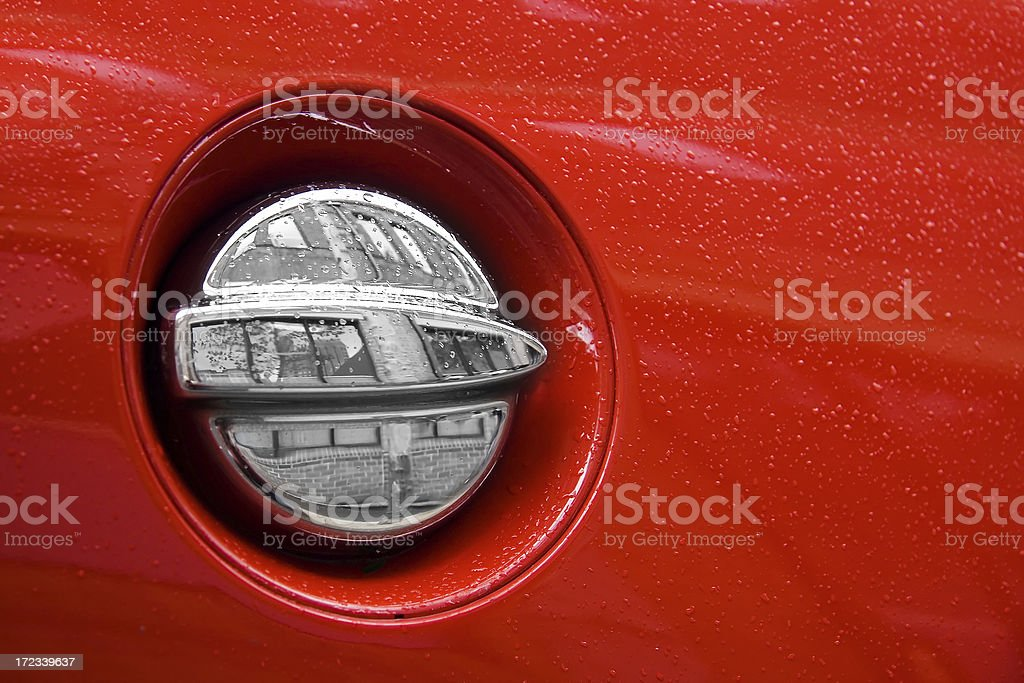 Exotic sports car fuel tank royalty-free stock photo