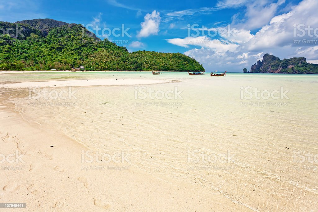 Exotic tropical beach stock photo