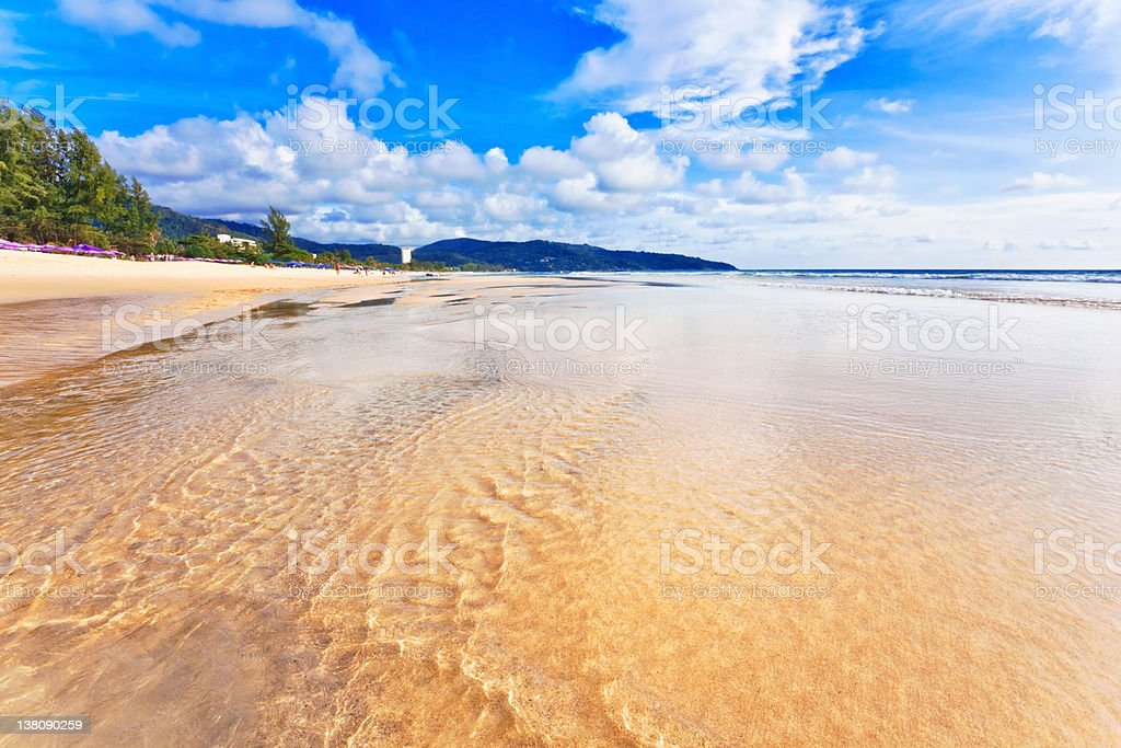 Exotic tropical beach. stock photo