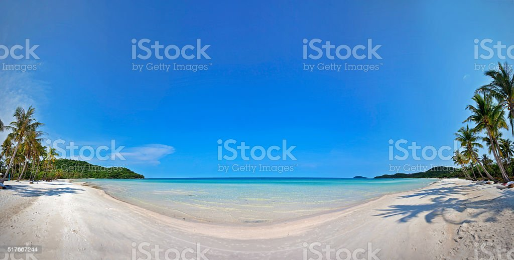 Exotic tropical beach. stock photo