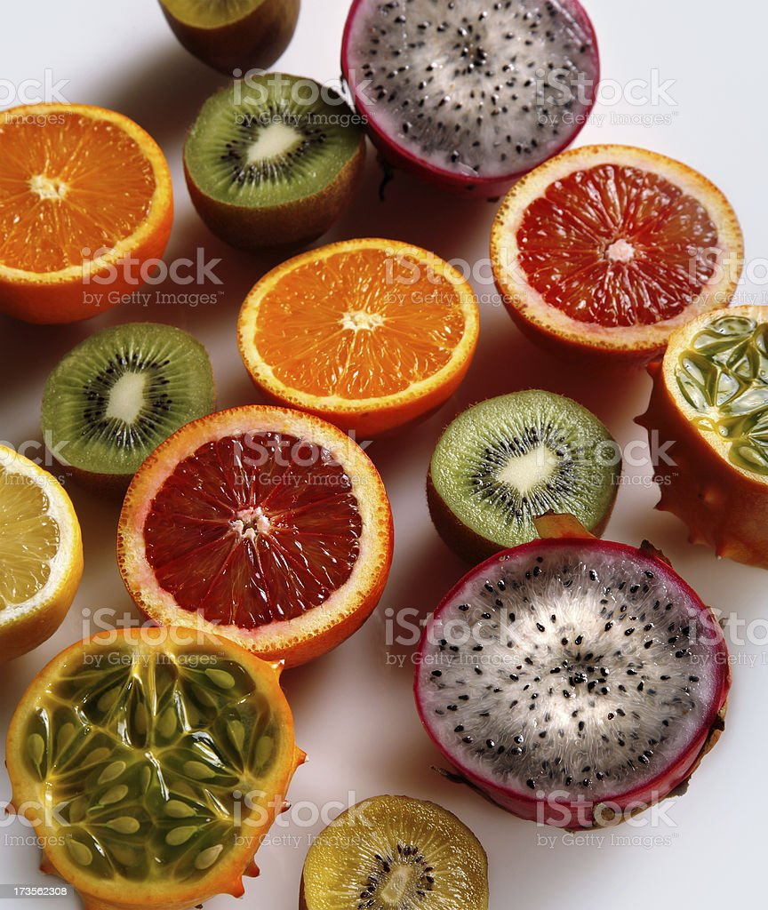 exotic tropical fruits stock photo