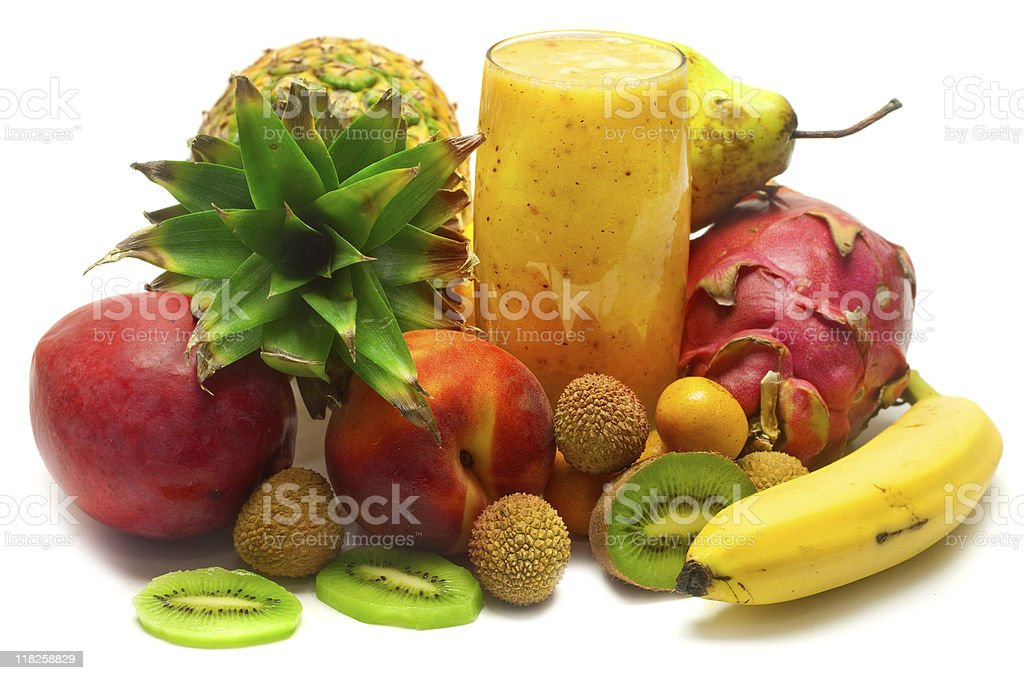 Exotic Tropical Smoothie royalty-free stock photo