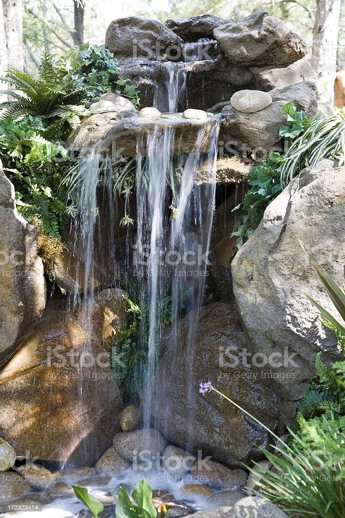 Exotic Waterfall Brighter royalty-free stock photo