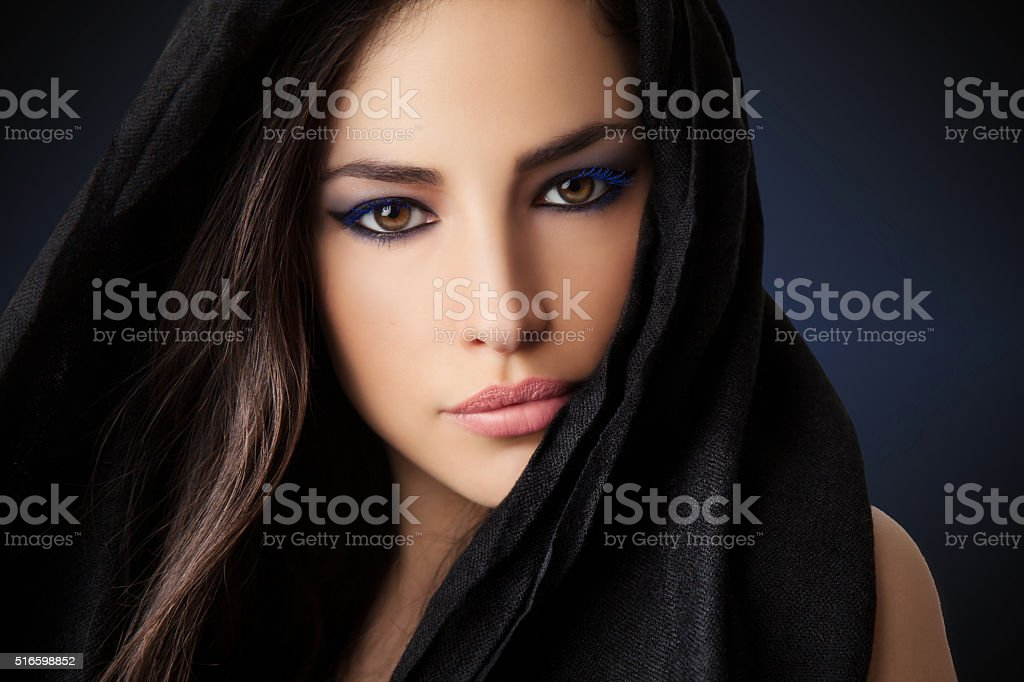 exotic woman beauty stock photo
