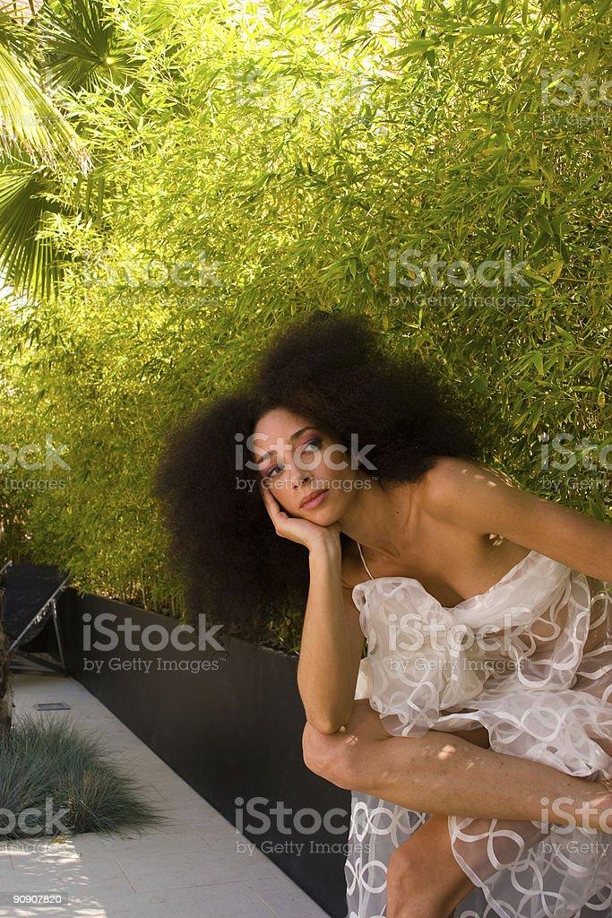 Exotic woman stock photo