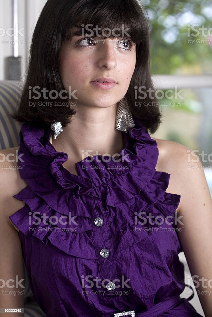 Exotic Young Model royalty-free stock photo