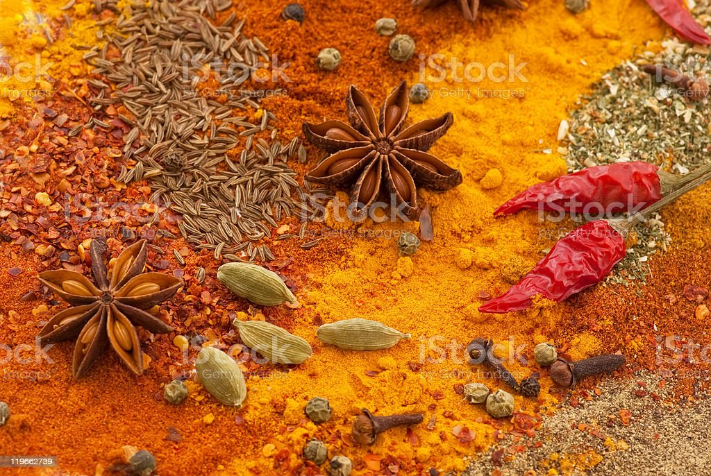 Exotically Spice Collection stock photo