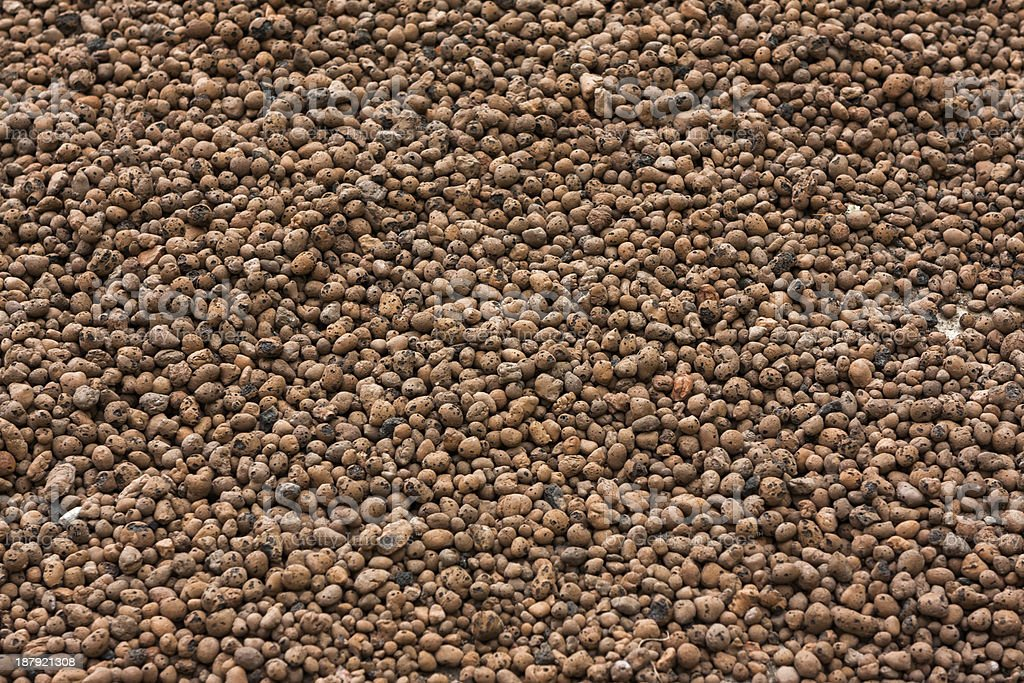 Expanded clay aggregate royalty-free stock photo