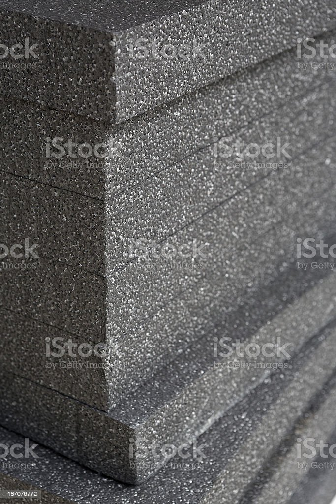 EPS, Expanded Polystrene Material for building insulation stock photo