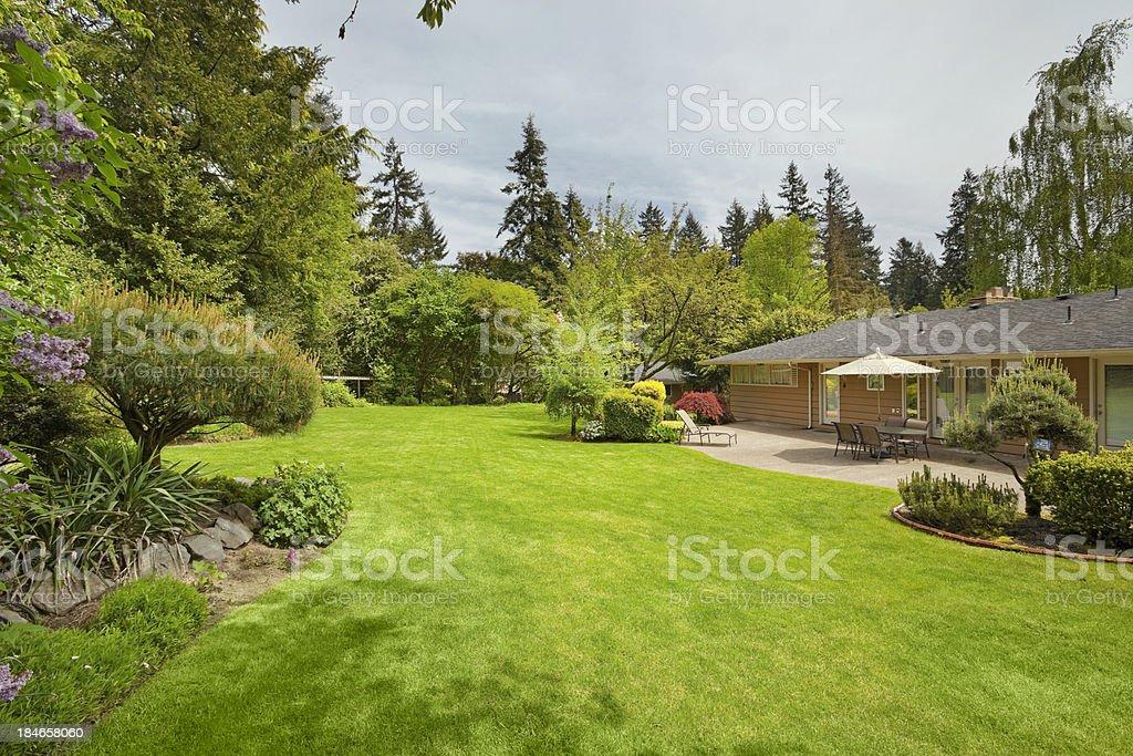 Expansive Backyard royalty-free stock photo