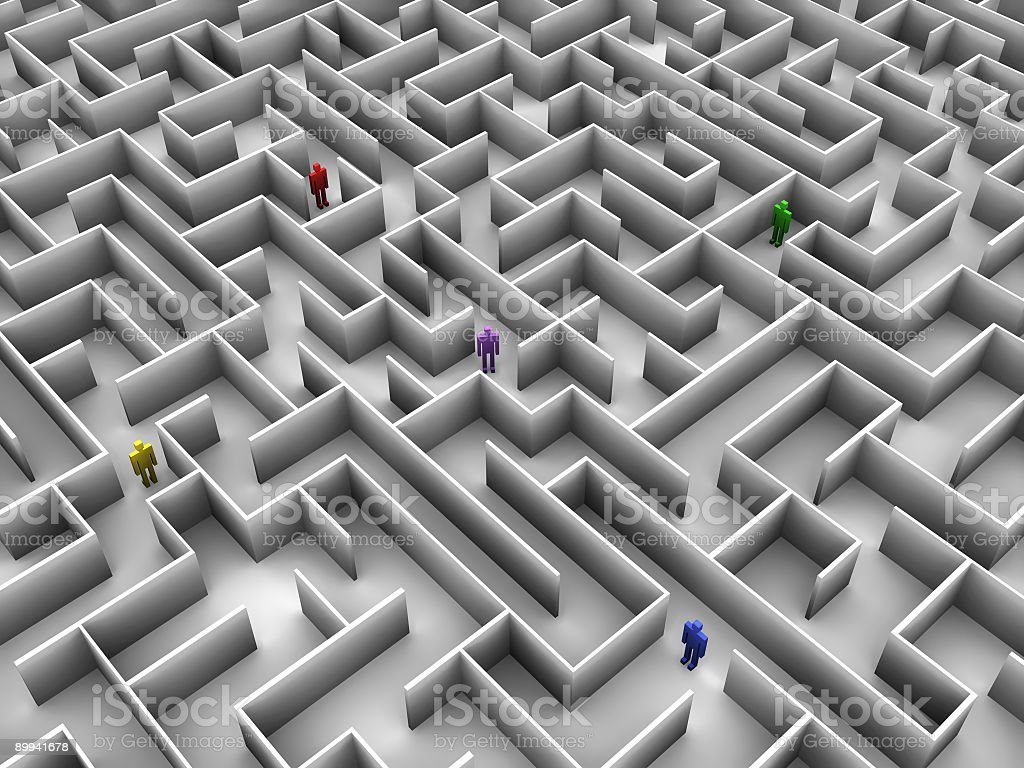Expansive Maze (Rendering) royalty-free stock photo