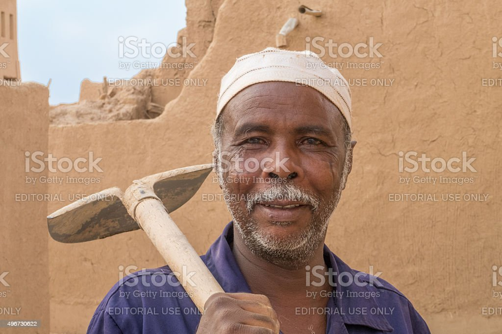 Expat worker in Saudi Arabia stock photo