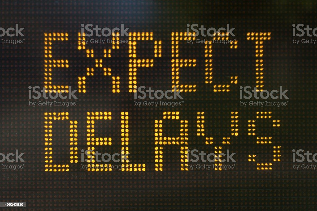 Expect Delays Sign stock photo