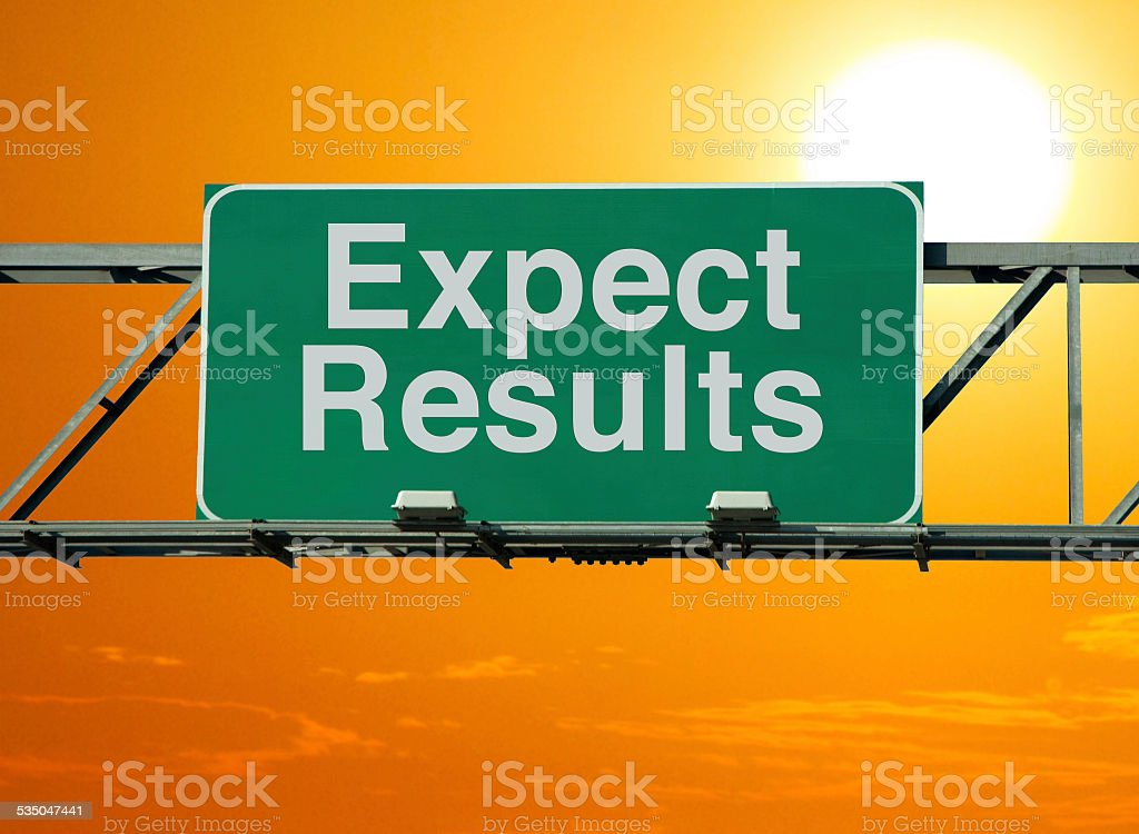 Expect Results stock photo