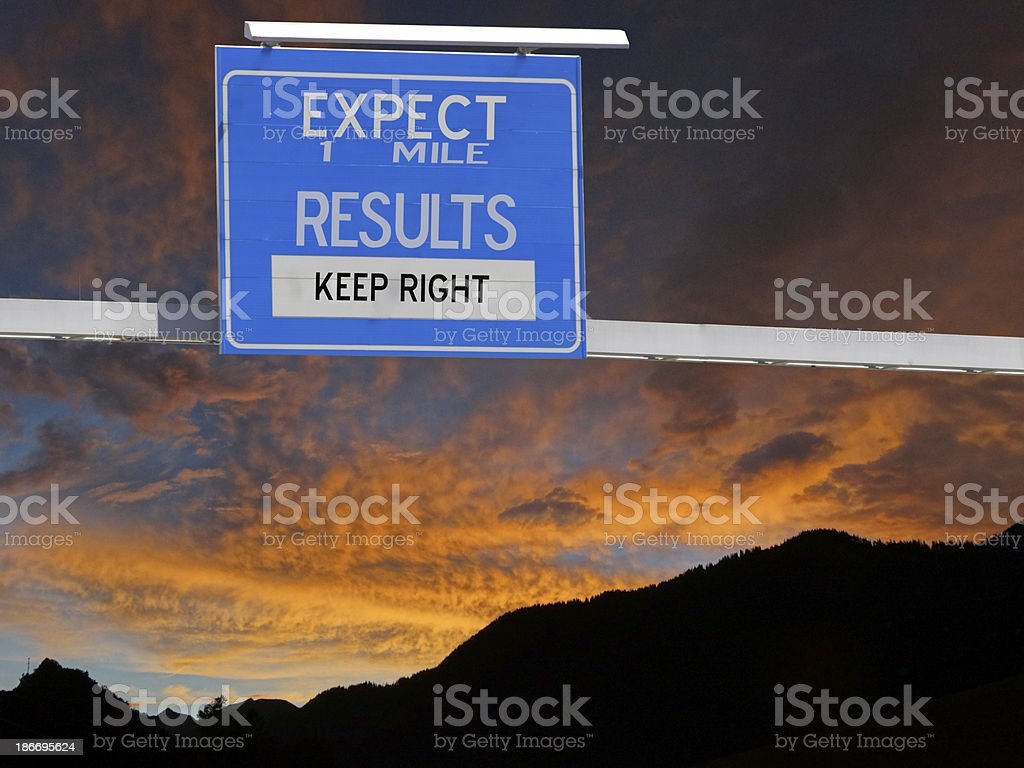 Expect Results Sign royalty-free stock photo